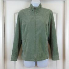 The TOG Shop Petites GreyGreen Lightweight Micro Corduroy Sz 10P Full Zip Jacket