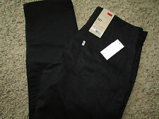 NEW LEVIS 511 SLIM FIT BLACK JEANS MENS 34X32  STYLE: 131510007  FREE SHIP