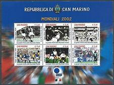 2002 SAN MARINO FOGLIETTO MONDIALI CALCIO MNH ** - ED