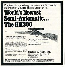 1977 small Print Ad of Heckler & Koch H&K HK300 Semi-Auto .22 Magnum Rifle
