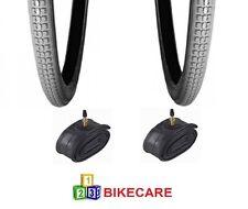 Par De Gris 24x1 3/8 Bicicleta/Silla de Ruedas neumáticos con tubos de neumáticos vc-2803