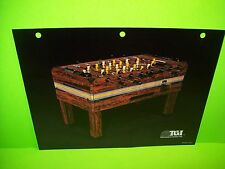 TGI Tournament Games Inc Original Vintage Foosball Table Arcade Game Sales Flyer