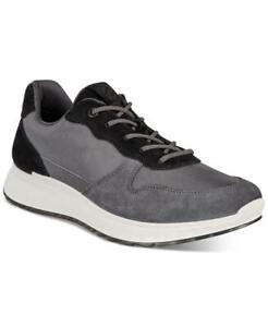$180 NEW Ecco Men's Dark Shadow Gray ST.1 Fashion Sneakers Shoes 8 8.5 tfe09