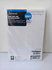 Filofax 2021 A5  day on 1 one page diary refill inserts 21-68515