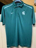 Michigan State Spartans Nike Dri-fit Polo; Mens XL; Swoosh Logo