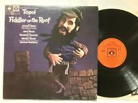 FIDDLER ON THE ROOF - TOPOL & Original London Cast 1967 Vinyl LP - VG+/VG+