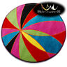 Thick MODERN RUGS 'PAINT' CARPETS ORIGINAL COLORFUL Circle Cheap For Kids Carpet