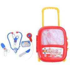 6 Piece Fun Children's Kids Doctor Role Play Trolley Kit with Medical Toy Tools