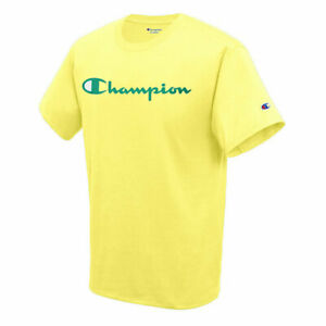 CHAMPION MENS CLASSIC GRAPHIC JOURNEY YELLOW SHORT SLEEVE SHIRT XL