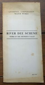 Maps & Plans etc River Dee Scheme Tryweryn Valley Reservoir 1961 Liverpool Water