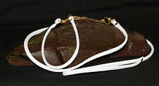 Dog Show Lead and Collar Soft Nappa Luxury Leather - White