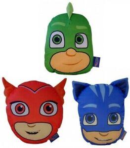 Official PJ Masks Cushion Catboy Owlette Gekko Kids Bedroom Bedding Pyjama Case