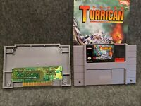 Super Turrican SNES Super Nintendo Tested + Authentic with Instruction Manual