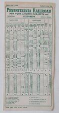 Pennsylvania Railroad 1946 Public Timetable -  New York Elizabeth