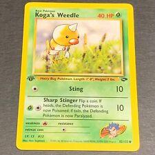 Pokemon 1st Ed. Gym Challenge Set COMMON Koga's Weedle 82/132 - Near Mint (NM)