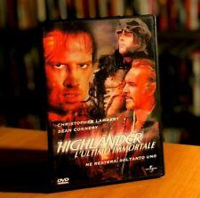 HIGHLANDER L'ULTIMO IMMORTALE (1986) Sean Connery Lambert DVD COME NUOVO