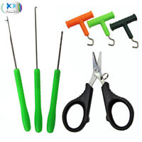 Bait Needle Drill Puller Stringer and Scissors Carp Fishing Baiting Rig Tool Set