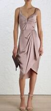 Silk Regular Dresses Draped