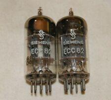 Pair of Vintage 1960 SIEMENS 12AU7 ECC82 TUBES