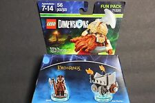 LEGO DIMENSIONS FUN PACK THE LORD OF THE RINGS GIMLI 71220 FREE SHIPPING