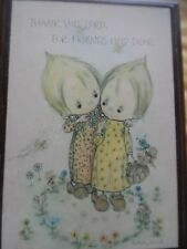 Vintage Hallmark Thanks You Lord for friend Held Dear Plaque Walnut Frame