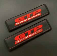 Pontiac GTP Supercharger seat belt covers Red embroidery 2PCS