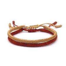 BENAVA Tibetisches Armband Glücksarmband Freundschaftsarmband 2er Set Geflochten