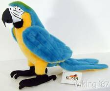 KOSEN Made in Germany NEW Blue & Yellow Macaw Parrot Bird Plush Toy