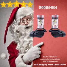 9006 HB4 LED Fog Driving Light Bulbs Kit Ultra Bright Canbus 25W 4300K Yellow
