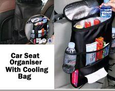 Respaldo del asiento de coche bolsa de almacenamiento de varios bolsillos ordenado organizador titular de viaje fresco caliente