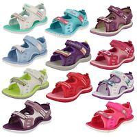 Infant/Junior Clarks Girls Soft Textile Sandals 'Star Games'