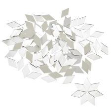 500Pcs Glass Mirror Mosaic Tiles Bulk Diamond Shape Decal Home Decoration USA
