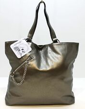 ED HARDY BRONZE LARGE TOTE/HANDBAG, SOFT TOUCH, WITH SKULL CHARM ZIP! £14.50