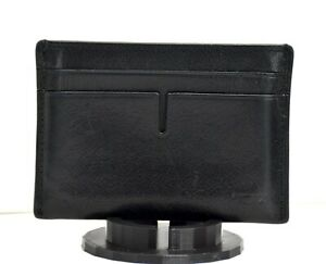 Tumi ID Lock Mens Leather Card Wallet Holder Case Black