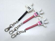 Japan Disney Mickey & Minnie Mini Hand Telescopic Stick Keychain Lot of 3