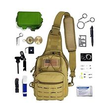 EDC Tactical Sling Bag with Survival Gear & Emergency Tools (28pc Set)