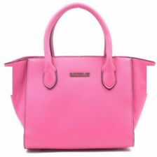 Fashionable Synthetic Leather Bag Sling Top Handle Bag (Fuchsia Pink)