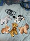 Lot 5 Chicco Lullaby Baby Playard Toys For Mobile Jungle Animals Stuffed Plush