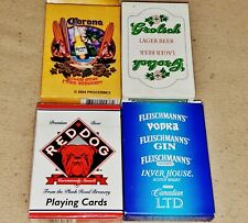 Corona, Grolsch, Red Dog & Fleischmann's Decks of Playing Cards - 2 Sealed