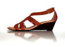 $99 New Ralph Lauren Women Lydia Brown Suede Comfortable Sandal Shoe sz 9 M