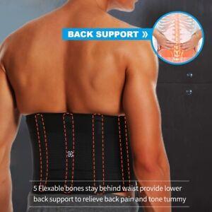 Men Women Slimming Body Shaper Belt Waist Trainer Belt Cincher Back Support Belt