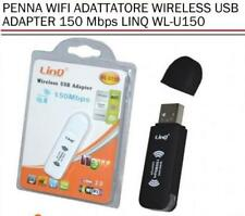 Penna wifi adattatore wireless usb adapter 150 mbps linq wl-u150