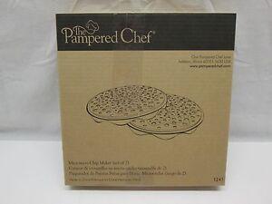 Pampered Chef 1241 Microwave Chip Maker Set of 2