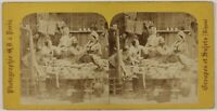 Scena Da Genere Stiro Francia Foto Stereo Th2n1 Vintage Albumina c1865