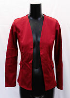 Boohoo Women's Collarless Blazer TM8 Cranberry Size US:6 UK:10 NWT