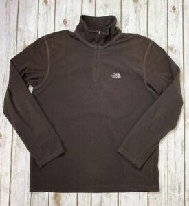 Men's The North Face 1/4 Zip Fleece TKA 100 Pullover Fleece Top Sz Medium