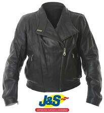 iXS Penta Ladies Leather Motorcycle Jacket Motorbike Female Womens Black XL J&s