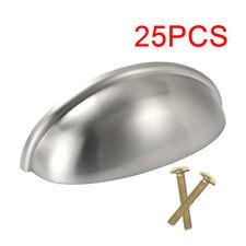 25pcs Cabinet Hardware Silver Finish Furniture Pull Handles Shell Handle Knob