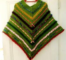 fb8b8a0f5df6 Lunique Handmade Crochet DECORES Grand Poncho 🌺 🌻 vert