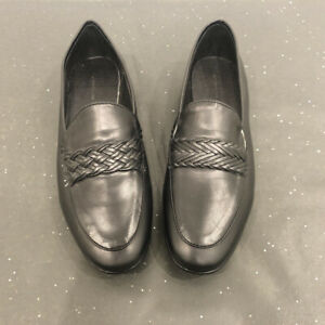 NEW Camilla & Marc Braided Slip On Loafers Flats Shoes, Black, Size 37
